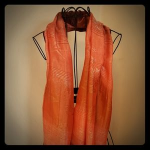 Gorgeous orange/butterfly wrap/shawl
